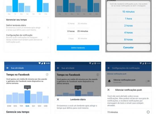 FACEBOOK e INSTAGRAM agora mostram quanto TEMPO você usa nas redes